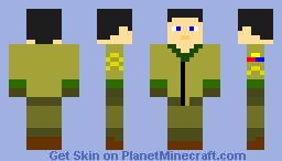 """Chester """"The Raccoon""""  Goldman, 1st Armored Division, the Ardennes, Belgium, 1944 Minecraft Skin"""