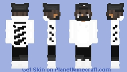 Guy with Off-White Hoodie and Mask Minecraft Skin