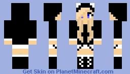 panda girl Minecraft Skin