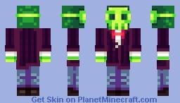 Green Skull Minecraft Skin