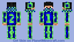 Code Name: OneTwo (Shaded Edition) Minecraft Skin
