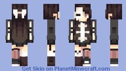 Skeleton Girl Minecraft Skin