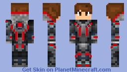 red cyborg v2 Minecraft Skin