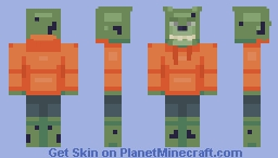 Withered Springbonnie in an Orange Hoodie {Requested} Minecraft