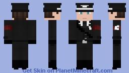 Black SS uniform Minecraft Skin