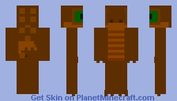 Brown Gecko with green eyes (requested by Aspirin60) Minecraft Skin