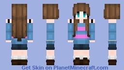 Frisk Girl Minecraft Skin