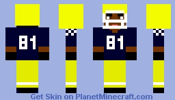 Notre Dame Football Player Minecraft Skin