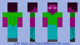 Herobrine But random colors! Minecraft Skin