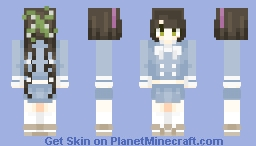 fighty grill that I love with all my heart - tenko chabashira - danganronpa v3: killing harmony - request Minecraft Skin