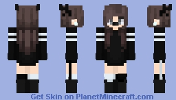 Edit of a Dark Christmas Female Minecraft Skin