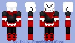 underfell papyrus Minecraft Skin