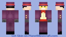 Superjail Warden Minecraft Skin