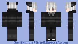 White hair Minecraft Skin