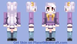 i'm closing my eyes Minecraft Skin