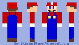 Super Mario Minecraft Skin