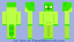 Lime the Racoon Minecraft Skin