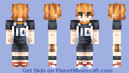 Hinata Shoyo ~ Haikyuu! Minecraft Skin