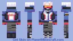 Soldier: 76 on Overwatch Minecraft Skin