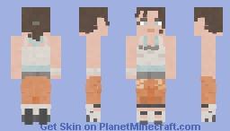 Chell [Portal 2] Minecraft Skin