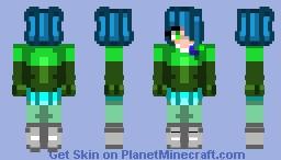 Amber ~ Glitchtale Minecraft Skin