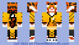 Tigress from Kungfu Panda 3 Minecraft Skin