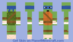 Teenage Mutant Ninja Turtles 2017: Leonardo Minecraft Skin