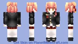 🐬宗貞南 | Minami Munesada🐬 [New OC! High School Uniform] Minecraft Skin