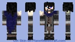 Percival with longer hair, beard, scale cloak Minecraft Skin