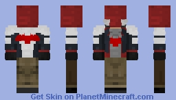RED HOOD ( ARKHAM SERIES ) Minecraft Skin