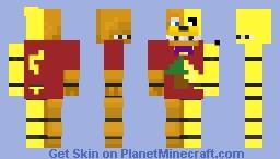 Spring Bonnie and Fredbear fused Minecraft Skin