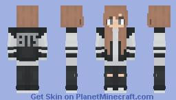 BTS Fangirl Minecraft Skin