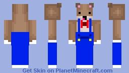 Hamster in Overalls Minecraft Skin