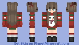 Christmas Sweater - Girl Minecraft Skin