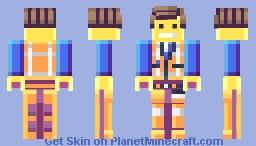 UPDATED Emmet on Lego Movie Minecraft Skin