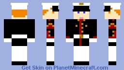 Me in Marine Blue-White Dress Minecraft