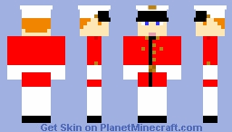 Me in Marine Red and White Minecraft