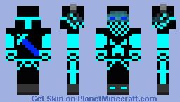 Blue Herobrine Minecraft Skin