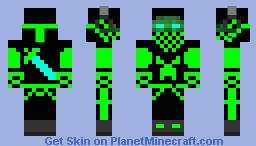 Green Herobrine Minecraft Skin