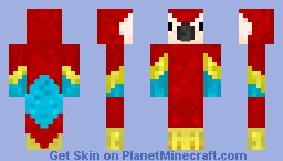 A parrot. Minecraft