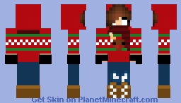 HerobrineSister (Christmas Version) Minecraft Skin