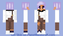 Pastel Purple and Overalls Minecraft Skin