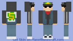 Dark Outfit Jake (Subway Surfers) Minecraft Skin