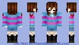 underlust frisk Minecraft Skin