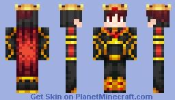 [Roleplay] Ryuu Satoshi - Ryoko's Dad (Fire King) Minecraft Skin