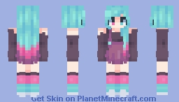 I know I'm a lucky girl ☾ Minecraft Skin