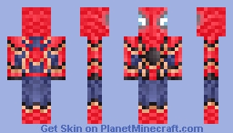 Iron Spider-Man Minecraft Skin