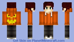 Pumpkin Jacket Skin Minecraft Skin