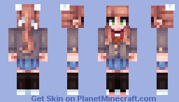 Just Monika Minecraft Skin