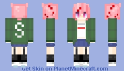 Natsuki - DDLC (Supreme) Minecraft Skin